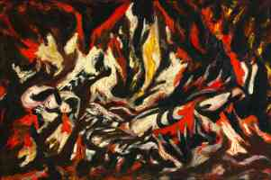 jackson pollock abstract expressionist the flame