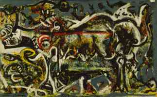 jackson pollock abstract expressionist the she wolf