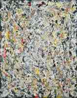 jackson pollock abstract expressionist white light