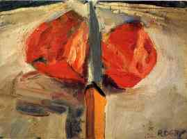 richard diebenkorn abstract expressionist tomato and knife