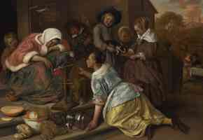 jan steen dutch baroque the effects of intemperance
