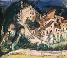 chaim soutine expressionist landscape of cagnes