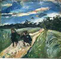 chaim soutine expressionist return from school after the storm