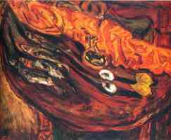 chaim soutine expressionist still life with fish eggs and lemons