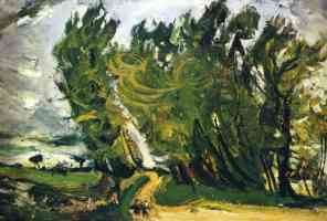 chaim soutine expressionist windy day auxerre