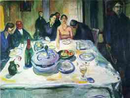 edvard munch expressionist at the dinner table