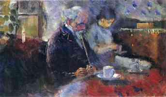 edvard munch expressionist couple at the cafe