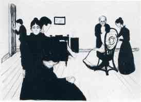 edvard munch expressionist death chamber