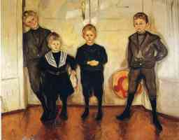 edvard munch expressionist four children of dr max linde