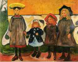 edvard munch expressionist four girls in aasgaardstrand