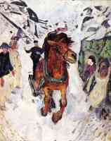 edvard munch expressionist galloping horse
