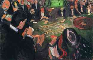 edvard munch expressionist gambling table