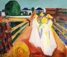 edvard munch expressionist girls on the bridge