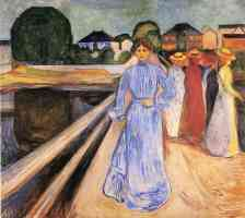edvard munch expressionist girls on the jetty 1