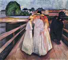 edvard munch expressionist girls on the jetty 2