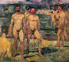 edvard munch expressionist group of nude men
