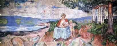 edvard munch expressionist mother and babies