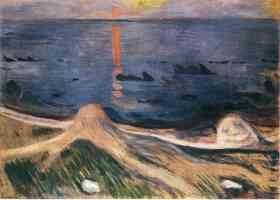 edvard munch expressionist mystery of a summer night