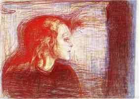 edvard munch expressionist sick child lithograph
