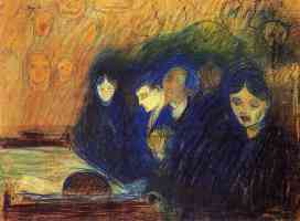 edvard munch expressionist sketch of the death bed