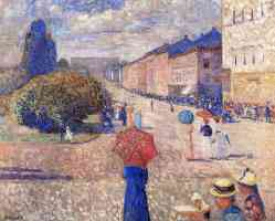 edvard munch expressionist spring walk on karl johan