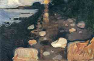 edvard munch expressionist sunlight on the shoreline
