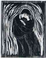edvard munch expressionist the kiss woodcut