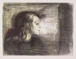 edvard munch expressionist the sick child in grey