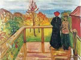 edvard munch expressionist two girsl on balcony