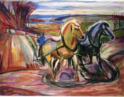 edvard munch expressionist two horses