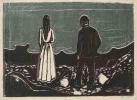 edvard munch expressionist two people the lonely ones