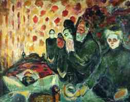 edvard munch expressionist visiting the death bed