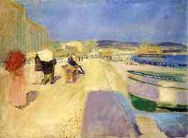 edvard munch expressionist walking on the promenade