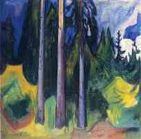 edvard munch expressionist winter forest