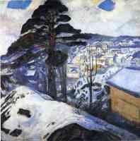 edvard munch expressionist winter in kragero
