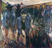 edvard munch expressionist workers returning home
