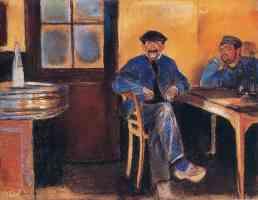 edvard munch expressionist workmen sitting in bar
