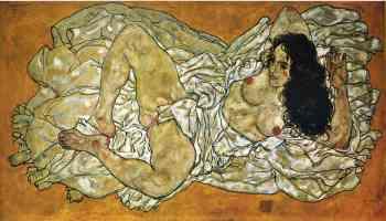 egon schiele expressionist reclining woman