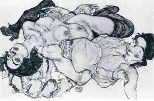 egon schiele expressionist reclining women