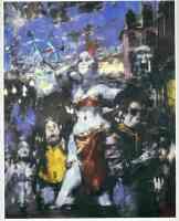 jack levine expressionist carnival at sunset