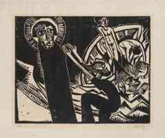 karl schmidt rottluff expressionist the miraculous draught of fishes from the portfolio 9 woodcuts by schmidt rottluff