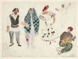 marc chagall expressionist a street dancer and gypsies costume design for aleko