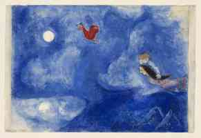 marc chagall expressionist aleko and zemphira by moonlight decor for aleko