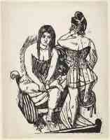 max beckmann expressionist at the toilette