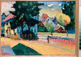 wassily kandinsky expressionist view of murnau