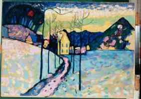 wassily kandinsky expressionist winter landscape