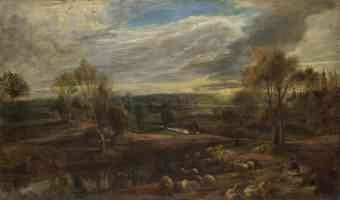 peter paul rubens flemish baroque a landscape with a shepherd and his flock