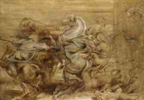 peter paul rubens flemish baroque a lion hunt