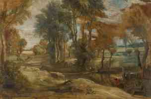 peter paul rubens flemish baroque a wagon fording a stream