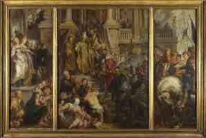 peter paul rubens flemish baroque oil sketch for high altarpiece st bavo ghent